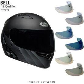 BELL 2点セット Qualifier 2019年 モデル Integrity Black Titan ヘルメット & イリジウムシールド