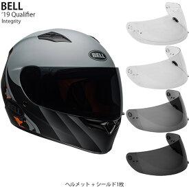 BELL 2点セット Qualifier 2019年 モデル Integrity Grey Orange ヘルメット & シールド