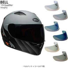 BELL 2点セット Qualifier 2019年 モデル Integrity Grey Orange ヘルメット & イリジウムシールド