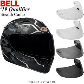 BELL 2点セット Qualifier 2019年 モデル Stealth Camo White ヘルメット & シールド