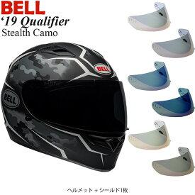 BELL 2点セット Qualifier 2019年 モデル Stealth Camo White ヘルメット & イリジウムシールド