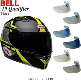 BELL 2点セット Qualifier 2019年 モデル Flare Black/Yellow ヘルメット & イリジウムシールド