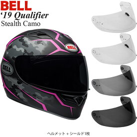 BELL 2点セット Qualifier 2019年 モデル Stealth Camo Pink ヘルメット & シールド