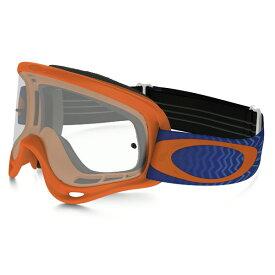 Oakley オークリー O Frame Oフレーム MX ゴーグル Shockwave ショックウェーブ オレンジブルー クリアレンズ OO7029-25
