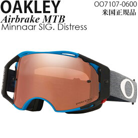 Oakley ゴーグル 自転車用 Airbrake MTB Minnaar SIG. Distress プリズムレンズ OO7107-0600
