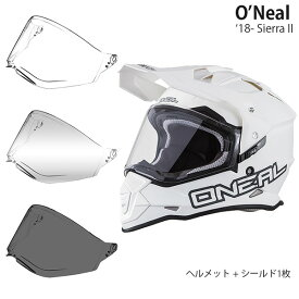 O'Neal 2点セット Sierra II 18-19年 現行モデル Flat White ヘルメット & シールド