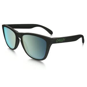 OakleyオークリーサングラスFrogskinsフロッグスキンOO9245-43アジアンフィット【MatteBlack/EmeraldIridiumPolarized】