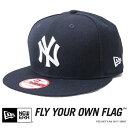 【NEWERA ニューエラ NEW ERA】 キャップ スナップバック SNAPBACK 帽子 9fifty ヤンキース YANKEES ブラック メンズ me...