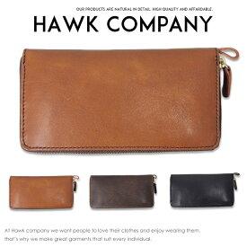 【Hawk Company ホークカンパニー】 財布 サイフ 長財布 ラウンドジッパー イタリアンレザー 本革 リアルレザー 小物 グッズ メンズ men's レディース プレゼント 彼氏 男性 lady's 7216