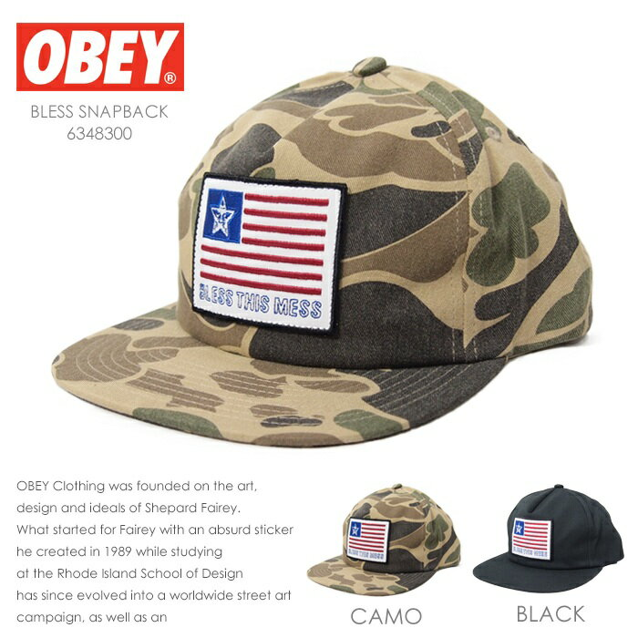 【OBEY オベイ】 キャップ 帽子 CAP スナップバックキャップ SNAPBACK ストリート スケボー グラフィック メンズ men's 正規品 インポート ブランド 海外ブランド 6348300