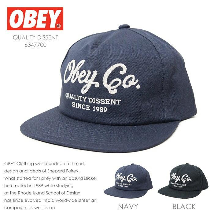 【OBEY オベイ】 キャップ 帽子 CAP スナップバックキャップ SNAPBACK ストリート スケボー グラフィック メンズ men's 正規品 インポート ブランド 海外ブランド 6347700
