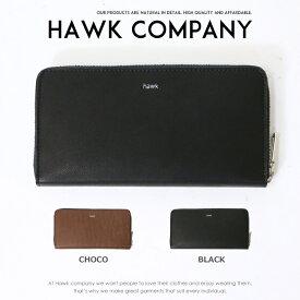 5f569b5df2b0 【Hawk Company ホークカンパニー】 財布 サイフ 長財布 ラウンドジッパー 本革 馬革