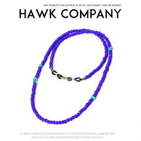【Hawk Company ホークカンパニー】 ネックレス ビーズ キャメルボーン 小物 グッズ アクセサリー プレゼント メンズ men's レディース lady's 5612