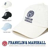【フランクリンマーシャルFRANKLIN&MARSHALL】キャップ帽子CAPアジャスター小物franklin&marshallMEN'Sメンズ国内正規品インポートブランド海外ブランド47183-7013