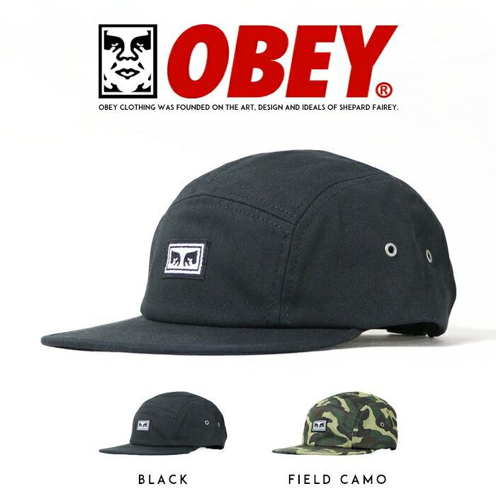 【OBEY オベイ】 キャップ 帽子 ジェットキャップ 5パネル CAP アジャスター ストリート スケボー グラフィック メンズ men's 正規品 インポート ブランド 海外ブランド 100490048