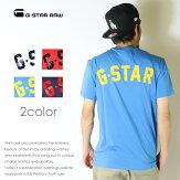【G-STARRAWジースターロウ】tシャツ半袖ロゴフロッキープリントジースターローgstarメンズmen's国内正規品インポートブランド海外ブランドD10986-336