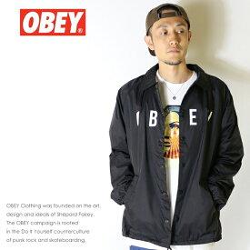 【OBEY オベイ】 ジャケット ナイロン コーチジャケット アウター ストリート スケーター グラフィック メンズ men's 正規品 インポート ブランド 海外ブランド 125001638