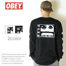 【OBEY オベイ】長袖Tシャツ tシャツ ロンT アームプリント スケート ストリート グラフィック メンズ men's 正規品 インポート ブランド 海外ブランド 164901799