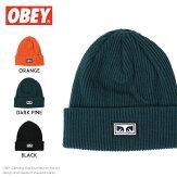 【OBEYオベイ】ニット帽ニットキャップビーニー帽子ストリートスケボーグラフィックメンズmen's正規品インポートブランド海外ブランド100030117