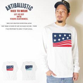 【ANTI BALLISTIC アンティバルリスティック】 長袖tシャツ tシャツ ロンT ロングスリーブTシャツ 長袖 星条旗 アメリカ パイル 刺繍 サーフ メンズ men's 国内 ブランド 184AN1LT075