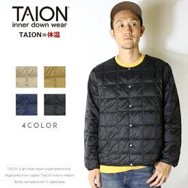 【タイオン taion TAION】 インナーダウン ダウン ダウンジャケット クルーネック 体温 メンズ men's ドメスティック ブランド TAION-104