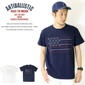 【セール 30%OFF】【ANTI BALLISTIC アンティバルリスティック】 tシャツ 半袖 星条旗 アメリカ ステッチ サーフ メンズ men's 国内 ブランド 192AN1ST049