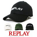 -【REPLAY リプレイ】 キャップ アジャスター 帽子 CAP アメカジ メンズ men's 国内正規品 インポート ブランド 海外ブランド AX4161-000-A0113