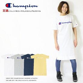 【セール】【Champion チャンピオン】 ワンピース 半袖 tシャツ 刺繍 ロゴ トップス レディース lady's 国内正規品 インポート ブランド 海外ブランド CW-P308