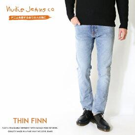 【国内正規品】【nudie jeans ヌーディージーンズ】 THIN FINN シンフィン スキニー スリム テーパード men's メンズ インポートブランド 海外 ブランド 49161-1140-N996