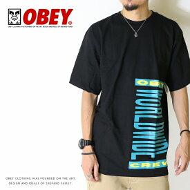 【OBEY オベイ】 tシャツ 半袖 プリント スケート ストリート グラフィック メンズ men's 正規品 インポート ブランド 海外ブランド 1630-819-83B-LK-19U