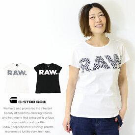 【セール 20%OFF】【G-STAR RAW ジースターロウ】 tシャツ 半袖 ロゴ プリント トップス レディース lady's ジースターロー gstar 国内正規品 インポート ブランド 海外ブランド D13354-4107