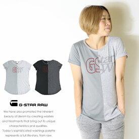 【G-STAR RAW ジースターロウ】 tシャツ 半袖 ロゴ プリント フロッキー トップス レディース lady's ジースターロー gstar 国内正規品 インポート ブランド 海外ブランド D13021-2757