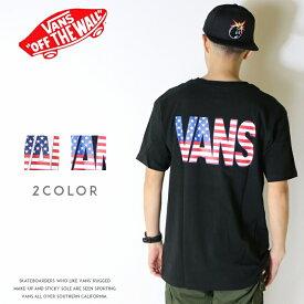 【セール 20%OFF】【VANS バンズ】 tシャツ 半袖 ロゴ プリント 星条旗 アメカジ ストリート スケートブランド メンズ men's 国内正規品 インポート ブランド 海外ブランド VA18SS-MT34