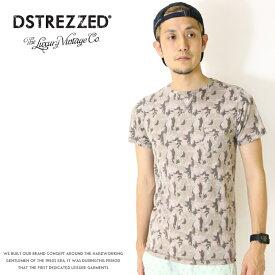 【セール 30%OFF】【ディストレス DSTREZZED】 tシャツ 半袖 クルーネック 総柄 アメカジ メンズ men's 国内正規品 インポート ブランド 海外ブランド DS202276-81