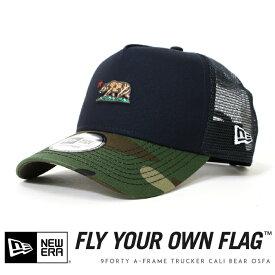 【2019年 秋冬新作】【NEWERA ニューエラ NEW ERA】 キャップ メッシュキャップ スナップバック カリフォルニアベア 帽子 9FORTY A-FRAME メンズ men's 国内正規品 インポート ブランド 海外ブランド 12108910
