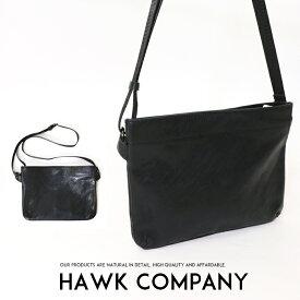 【2019年 秋冬新作】【Hawk Company ホークカンパニー】 バッグ bag サコッシュ ショルダーバッグ レザー かばん 鞄 小物 グッズ メンズ men's レディース lady's プレゼント 彼氏 男性 7358