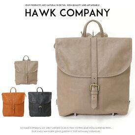【2019年 秋冬新作】【Hawk Company ホークカンパニー】 バッグ レザー キャンバス リュック 小物 牛革 グッズ メンズ men's レディース lady's プレゼント 彼氏 男性 3248