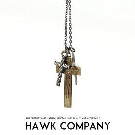 【2019年 秋冬新作】【Hawk Company ホークカンパニー】 ネックレス ペンダント クロスネックレス 小物 グッズ アクセサリー プレゼント メンズ men's レディース lady's 5635