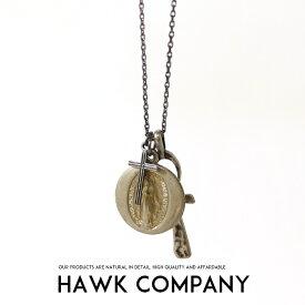 【2019年 秋冬新作】【Hawk Company ホークカンパニー】 ネックレス ペンダント コイン クロスネックレス 小物 グッズ アクセサリー プレゼント メンズ men's レディース lady's 5636