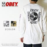 【OBEYオベイ】長袖TシャツtシャツロンTアームプリントスケートストリートグラフィックメンズmen's正規品インポートブランド海外ブランドストリートブランド1649-020-81