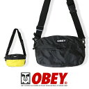 【OBEY オベイ】 ショルダーバッグ かばん リップストップ メンズ レディース 正規品 インポート ブランド 海外ブラン…