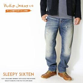 【2019年 秋冬新作】【nudie jeans ヌーディージーンズ】 Sleepy Sixten スリーピーシクステン リラックスストレート クラッシュ リペア men's メンズ インポートブランド 海外 ブランド 50161-1161-N052