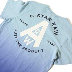 【G-STARRAWジースターロウ】tシャツ半袖ロゴバックプリントディップ染めジースターローgstarメンズmen's国内正規品インポートブランド海外ブランドD17149-336