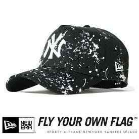 【2020年 春夏新作】【NEWERA ニューエラ NEW ERA】 キャップ スナップバック ニューヨーク ヤンキース 帽子 9FORTY A-FRAME ブラック メンズ men's 国内正規品 インポート ブランド 海外ブランド 12326298
