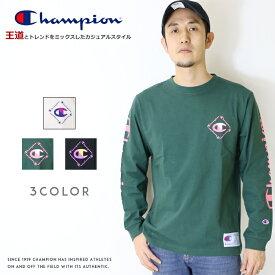 【2020年 春夏新作】【Champion チャンピオン】 長袖Tシャツ ロンt tシャツ クルーネック アクションスタイル トップス メンズ men's レディース 国内正規品 インポート ブランド 海外ブランド C3-R402