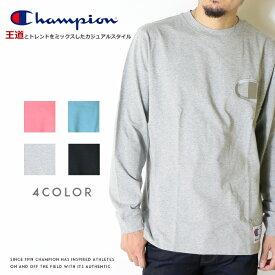【Champion チャンピオン】 長袖Tシャツ ロンT tシャツ クルーネック ビッグロゴ アクションスタイル トップス メンズ レディース 国内正規品 インポート ブランド 海外ブランド C3-L422