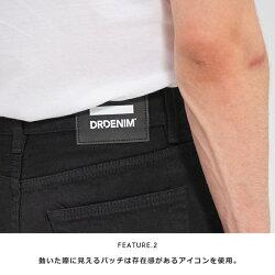 【DR.DENIMドクターデニム】CLARKクラークジーンズデニムスキニースリムテーパードブラックボトムメンズmen's国内正規品インポートブランド海外ブランド1330125