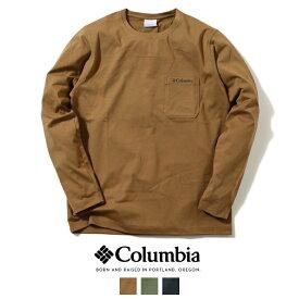 【2021年 春夏新作】【Columbia コロンビア】 長袖Tシャツ ロンT tシャツ ポケット メンズ 国内正規品 インポート ブランド 海外ブランド アウトドアブランド PM0554