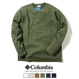 【2021年 秋冬再入荷】【Columbia コロンビア】 長袖Tシャツ ロンT tシャツ ポケット メンズ 国内正規品 インポート ブランド 海外ブランド アウトドアブランド PM0554