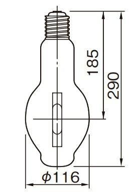 東芝 MF400L-J2/BU-PS/N メタルハライドランプ HL-ネオハライド2 PS形 400W形 下向点灯形 E39口金 『MF400LJ2BUPSN』